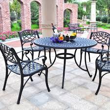 five piece cast aluminum outdoor dining
