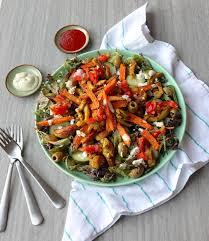 Zoete Aardappelsalade Met Shoarma En Feta De Man Die Koken Kan