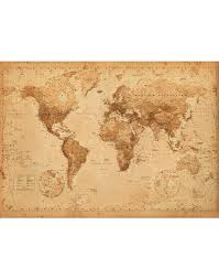 World Map Posters World Map Antique Style Giant Poster