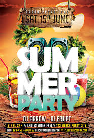 Summer Party Flyers Summer Party Flyer Facebook Timeline Cover Arrow3000 Summer Party