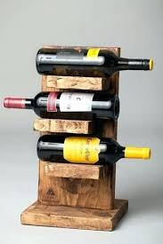 handmade wooden wine racks rack handcrafted rustic wood 3 bottle