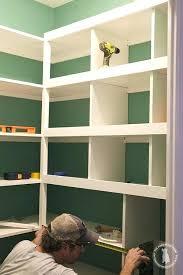 building pantry shelves diy wood pantry shelves