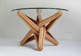 innovative furniture designs. Wonderful Innovative LOCK Is A Bending Twisting Coffee Table Made Out Of Layered Multicolored  Bamboo On Innovative Furniture Designs