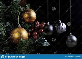 Mistletoe Ball Lights Christmas Balls Close Up And Mistletoe Stock Image Image
