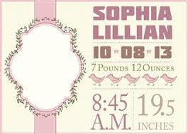 newborn baby announcement sample amazingly creative birth announcement templates