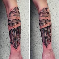 60 Terminator Tattoo Designs For Men Manly Mechanical Ink Ideas