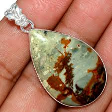 rocky e picture jasper 925 sterling silver pendant jewelry ap81556