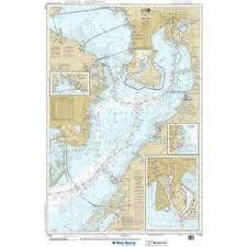 Tampa Bay Marine Chart Maptech Noaa Recreational Waterproof Chart Tampa Bay Safety Harbor St Petersburg Tampa 11416