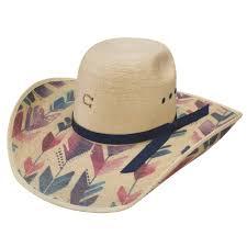 Charlie 1 Horse Straight Arrow Palm Leaf Cowgirl Hat