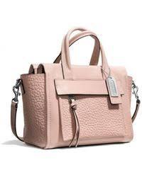 ... coach bleecker mini riley carryall in leather lyst