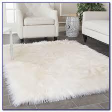 awesome rug faux fur area rugs wuqiangco inside regarding sheepskin decorations 8