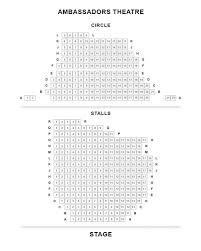 Ambassadors Theatre Seating Plan Boxoffice Co Uk