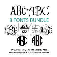 Monogram Font On Cricut Design Space Fonts For Cricut Svg Files Font Svg Files Cricut Monogram
