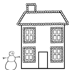 Christmas House Coloring Pages Christmas Lights Coloring Page