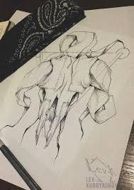 тату эскиз Tattoo Sketch арт Art череп Skull Dotwork Ram баран