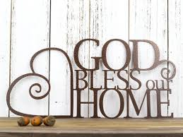 god bless our home metal wall art copper vein  on bless this home metal wall art with god bless our home metal wall art 13 5x6 5 copper vein refined
