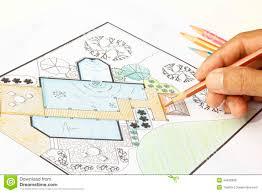 Small Picture Landscape Architect Design Water Garden Plans Stock Photo Image