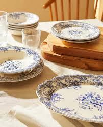 <b>FLORAL</b> EARTHENWARE TABLEWARE - Complete tableware set ...