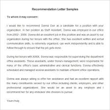 Sample Recommendation Letter For Employee From Employer Dolap