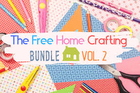 Free svg files and free fonts for cricut and silhouette (and more) always include the commercial use license. The Free Home Crafting Bundle Vol 2 Bundle Creative Fabrica