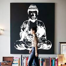Small Picture Aliexpresscom Buy Art new Design house decor Vinyl Buddha