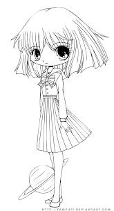 Clipart Cute Anima Girl Coloring Pages Collection