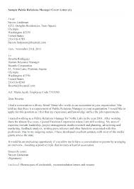 Sample Cover Letter Public Relations Trezvost
