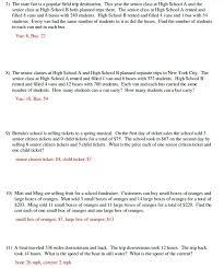 quiz worksheet word problems with multi step algebra equations