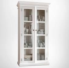 halifax white glass display cabinet 2 door
