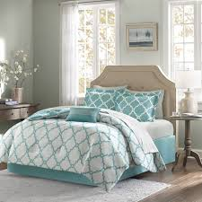 bedroom luxurious bedroom decoration using blue patterned
