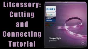 Philips Hue Shape Light Extension Litcessory Extensions For Philips Hue Lightstrips Cutting And Connecting Tutorial