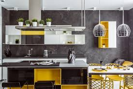 gray and yellow furniture. Yellow Kitchen Design Ideas Gray And Furniture