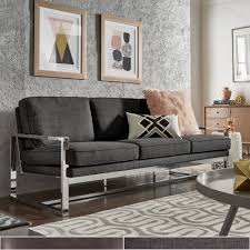 Rafael Chrome Sofa and Loveseat by iNSPIRE Q Modern - Free Shipping Today -  Overstock.com - 23149282