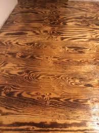 diy burnt plywood flooring