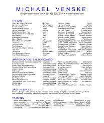 Professional Actors Resume Valid Professional Actors Resume Template