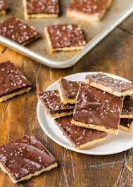 add a bite of savory sweetness to your holiday dessert buffet with these crazy simple rosemary er toffee bars they make great homemade food gifts