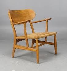 hans wegner for carl hansen son oak and paper cord easy chair
