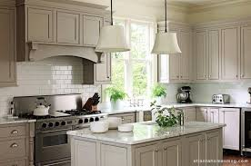 gray kitchen cabinets transitional atlanta homes remodeling