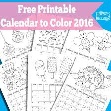 Small Picture 2016 Printable Calendar By Month Coloring Coloring Pages