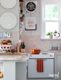 Fall Kitchen Decorating Fall Entertaining Around My House Tour Inspired By Charm