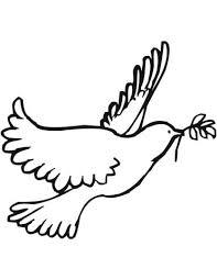 Vredesduif Kleurplaat Gratis Kleurplaten Printen