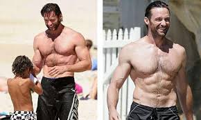 shirtless wolverine hugh jackman summer holidays jpg