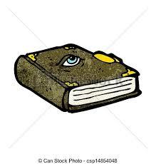 cartoon magic spell book csp14854048