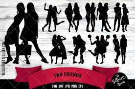 Check out our friends svg selection for the very best in unique or custom, handmade pieces from our digital shops. Women Best Friends Graphic By Thesilhouettequeenshop Creative Fabrica