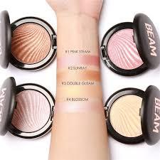focallure face makeup bronzer highlighter palette 4 colors rose gold shimmer highlighter powder contouring makeup kit