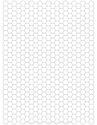 2018 Printable Graph Paper Fillable Printable Pdf ~ Hexagon Graph Paper