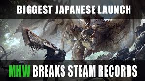 Monster Hunter World Releases On Pc Breaking Steam Records