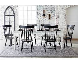 white and black dining room table. Wellborn Dining Table White And Black Room