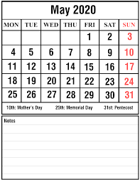 Calendar May 2020 May 2020 2 Printable Template Calendar