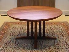 thomas moser cherry wood dining room round table